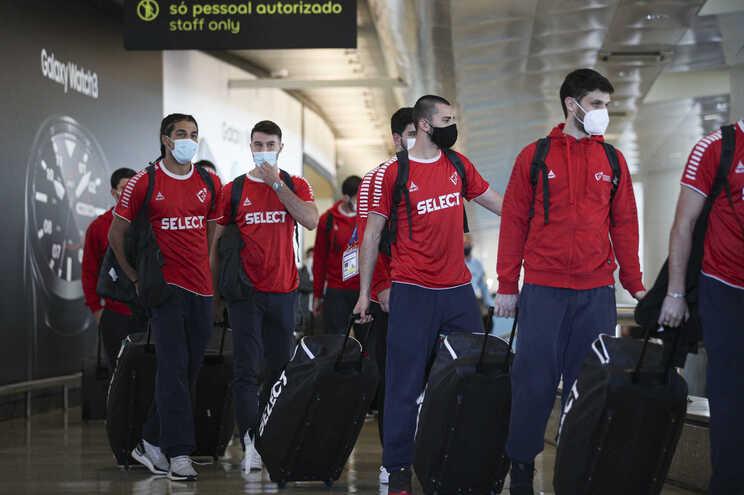 Chegada da Seleção ao aeroporto depois do apuramento para os Jogos Olímpicos