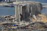A deflagração ocorreu num armazém do porto onde estavam depositadas desde 2014 cerca de 2.750 toneladas