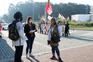 Trabalhadores das cantinas do IPP manifestaram-se esta terça-feira de manhã