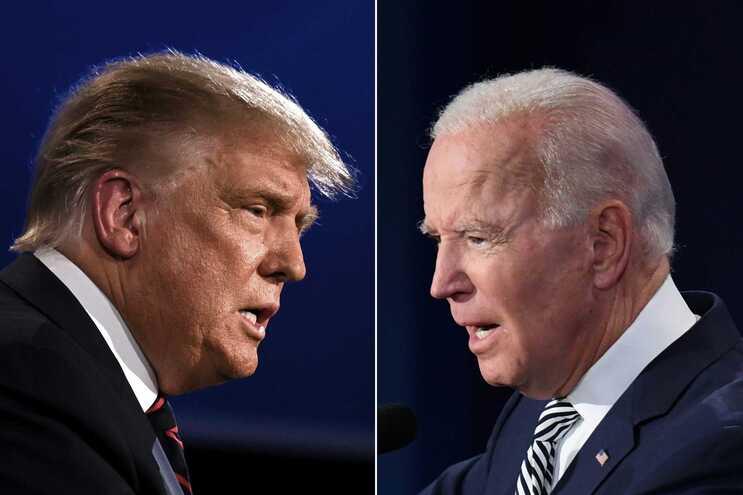 Trump e Biden estarão hoje face a face no 2.º e último encontro entre os dois antes da eleição de 3 de