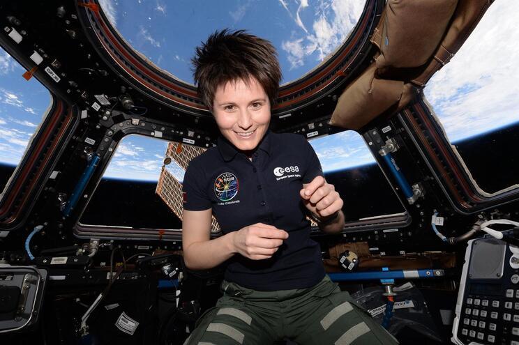 A astronauta italiana Samantha Cristoforetti