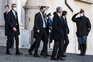 Partido Liga à saída do encontro com o presidente italiano