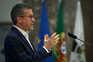 O ex-comissário europeu Carlos Moedas, durante a declaração da candidatura à presidência da Câmara de