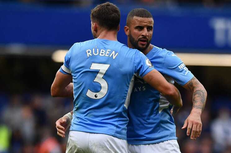 Rúben Dias foi capitão do Manchester City frente ao Chelsea