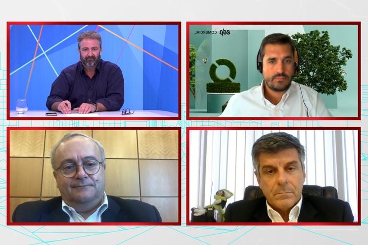 Gonçalo Castelo Branco, da EDP, Franco Caruso, da Brisa, e José Pedro Nascimento, da Altice Portugal
