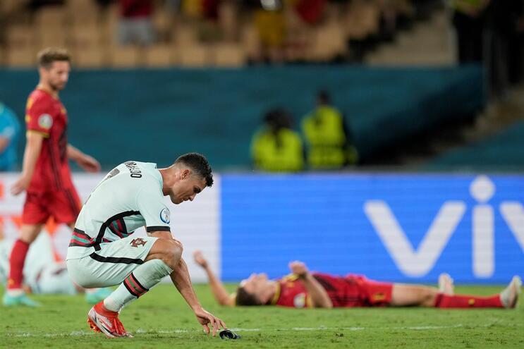Portugal foi eliminado pela Bélgica após a derrota por 1-0