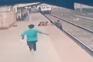 Homem resgata criança prestes a ser atropelada por comboio