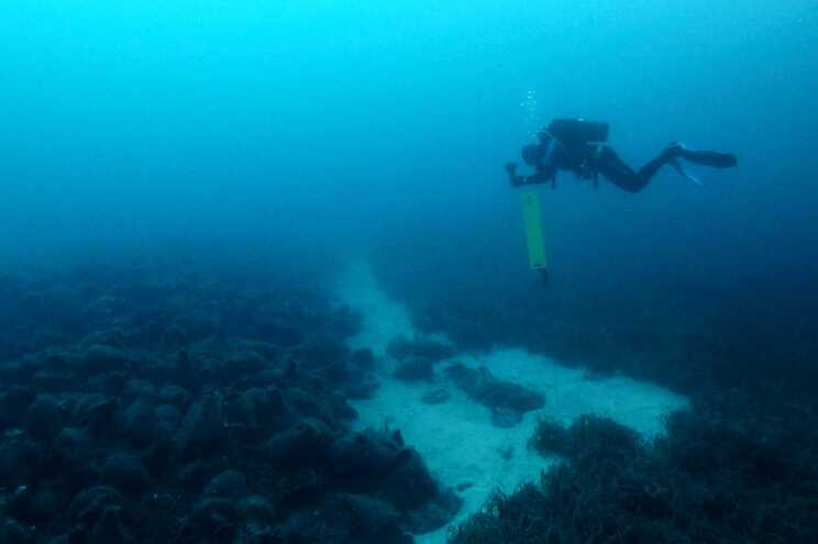 A descoberta aconteceu a 98 metros de profundidade