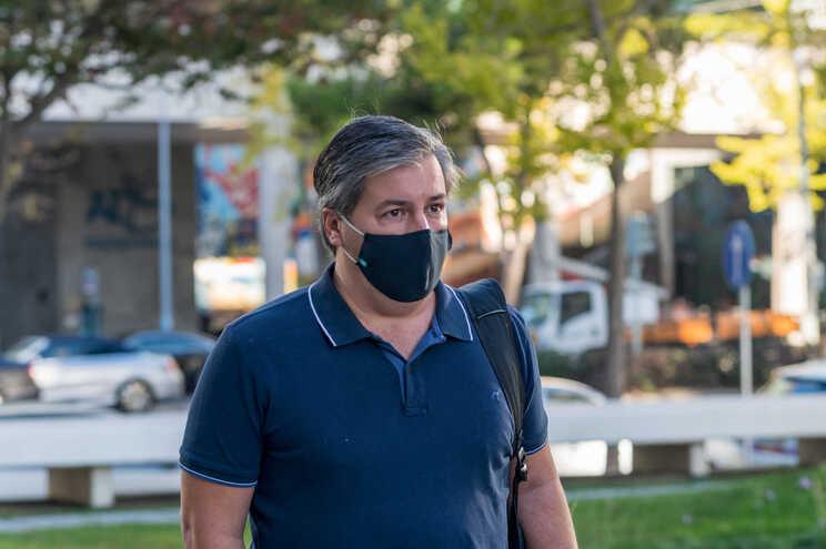 Bruno de Carvalho à chegada ao tribunal