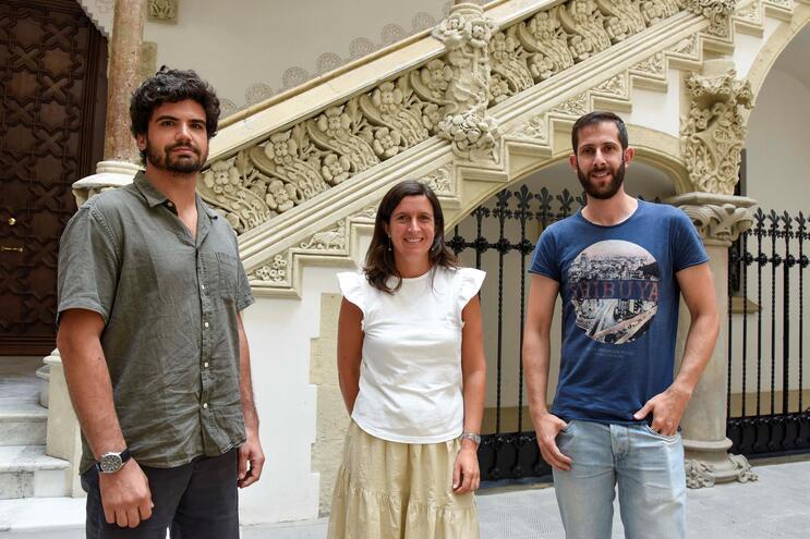 Os três investigadores premiados este ano