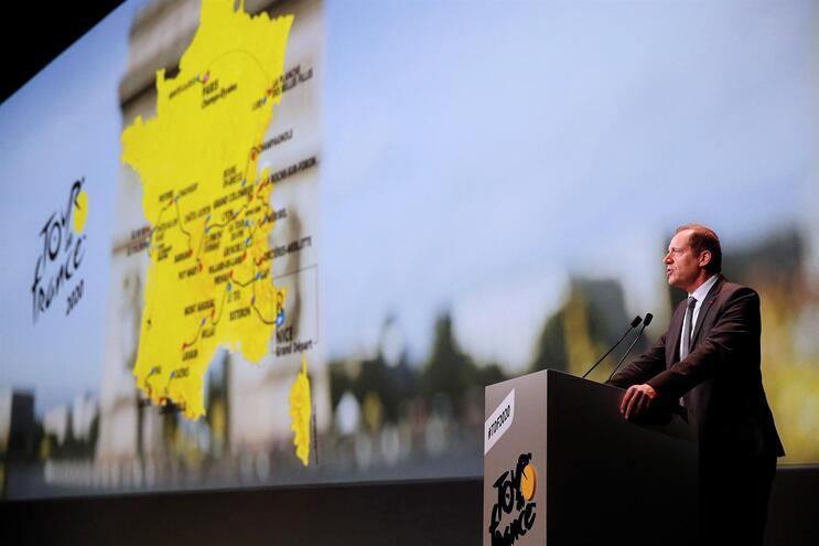 Christian Prudhomme, diretor do Tour, apresenta a edição de 2020