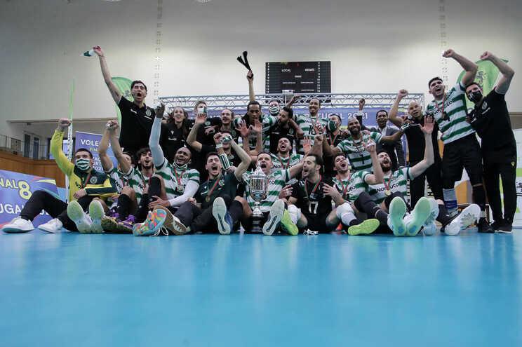 O Sporting conquistou a Taça de Portugal