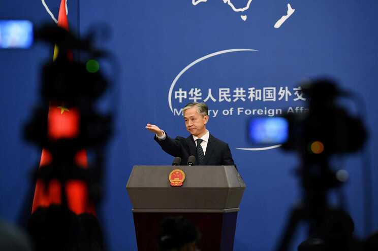 O porta-voz do ministério dos Negócios Estrangeiros da China, Wang Wenbin