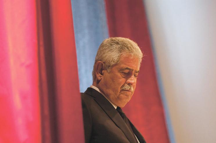 Presidente Luís Filipe Vieira voltou na quarta-feira ao Seixal, onde esteve ao lado de futebolistas e