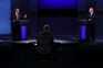 Donald Trump e Joe Biden no primeiro debate televisivo