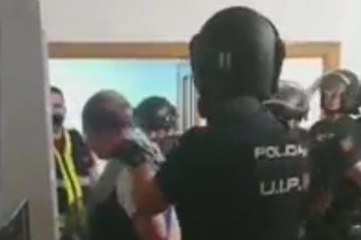 Imagens da detenção