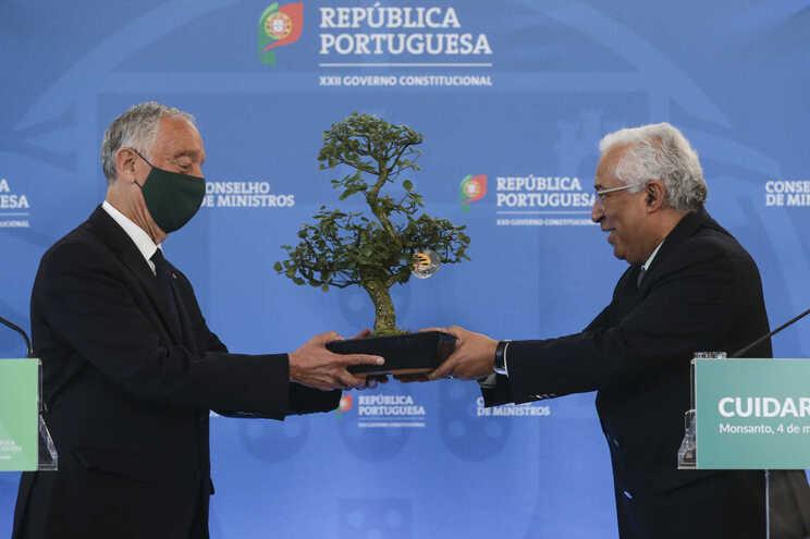 Marcelo Rebelo de Sousa e António Costa, no fim do Conselho de Ministros temático desta quinta-feira