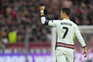Cristiano Ronaldo bisou esta terça-feira