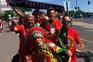 Adeptos portugueses festejam em Budapeste para apoiar a seleção