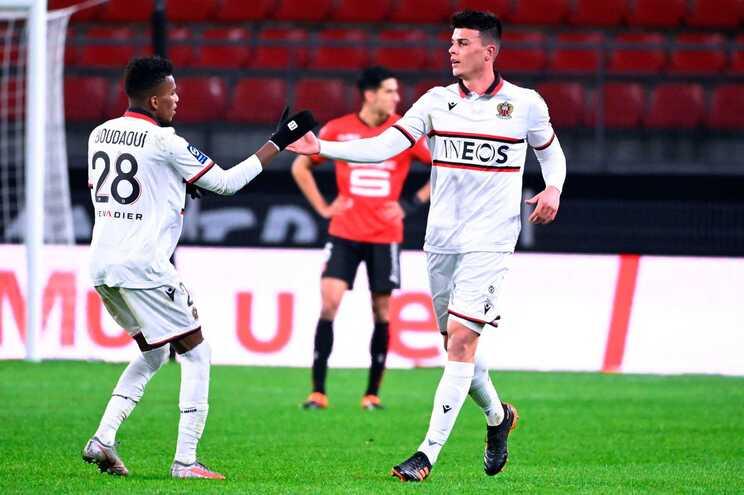 Nice venceu, fora o Rennes