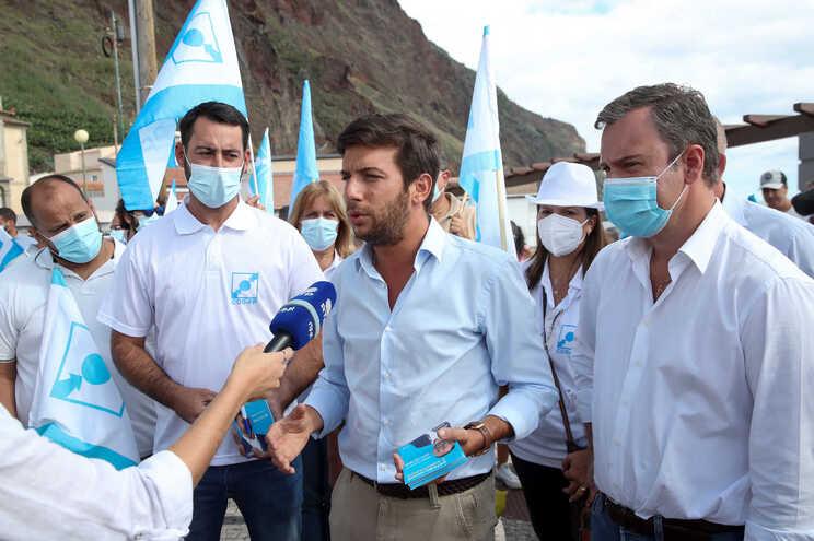 Líder do CDS-PP, Francisco Rodrigues dos Santos, esteve na ilha da Madeira