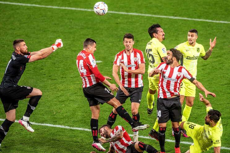 O Atlético de Madrid perdeu este domingo