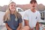 O casal de namorados durante a sua viagem pelos Esatdos Unidos