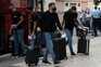 Chegada da equipa do Atlético de Madrid ao hotel em Lisboa