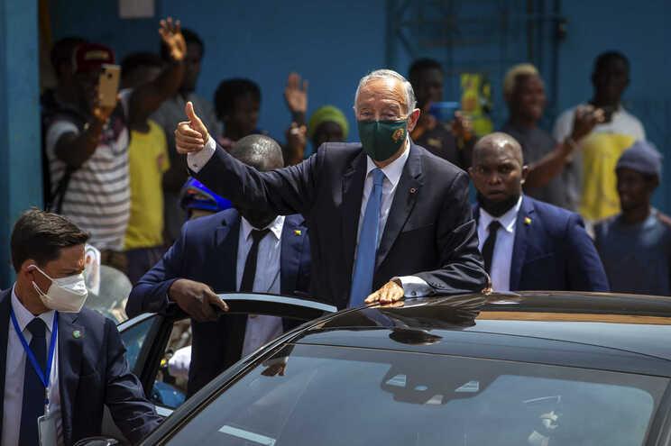 O Presidente português está em Bissau desde segunda-feira