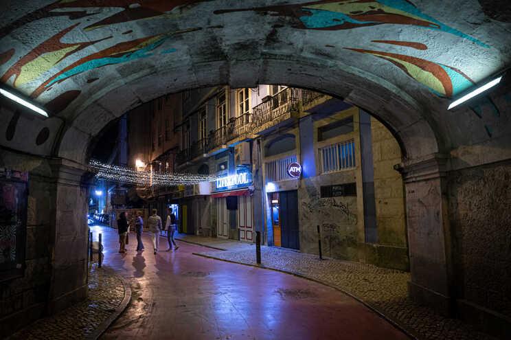 Lisboa com menos circulação à noite