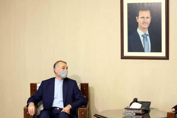 O ministro dos Negócios Estrangeiros iraniano, Hossein Amir Abdollahian
