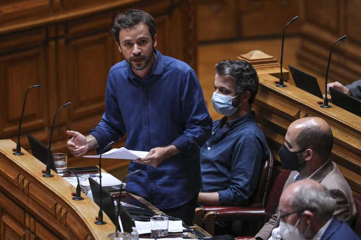 O deputado do Bloco de Esquerda, José Soeiro