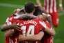 O Atlético de Madrid venceu este domingo