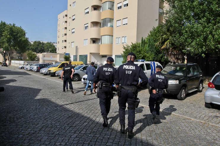 Imagens de uma megaoperação da PSP do Porto, contra o tráfico de droga no Bairro do Viso, em julho de