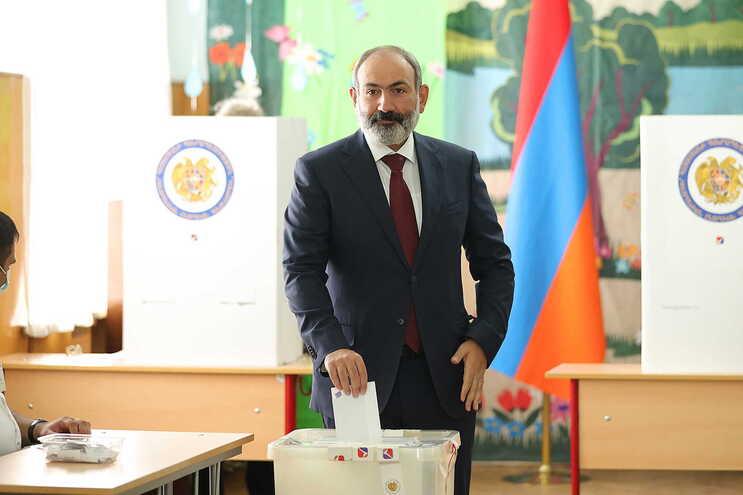O primeiro-ministro da Arménia, Nikol Pashinyan