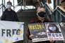Ativistas pedem a libertação dos doze jovens e da jornalistas Zhang Zhan que foi presa por dar cobertura