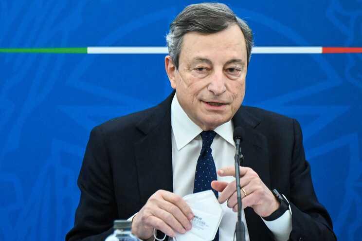 O primeiro-ministro italiano, Mario Draghi