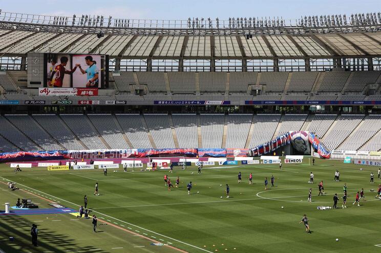 O estádio Yokohama vai receber a final de futebol dos Jogos Olímpicos