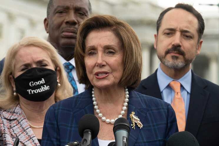 A presidente da Câmara dos Representantes, Nancy Pelosi