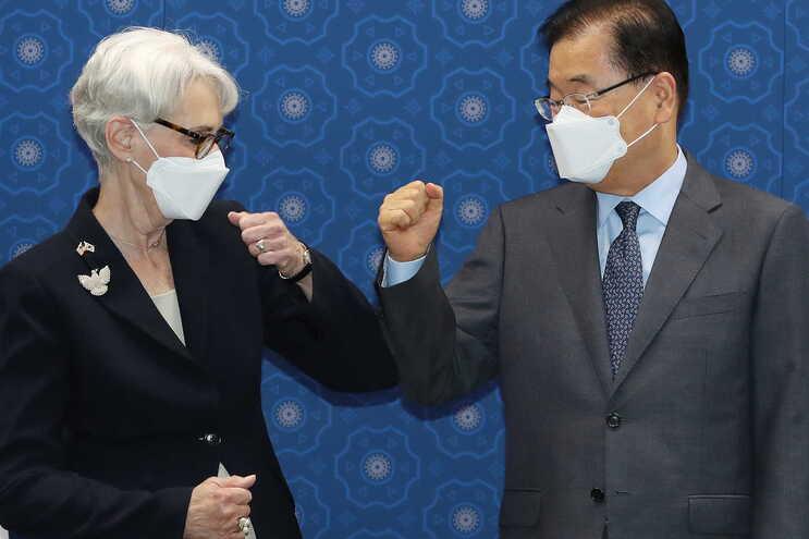 Wendy Sherman falou depois de um encontro com as autoridades da Coreia do Sul, em Seul