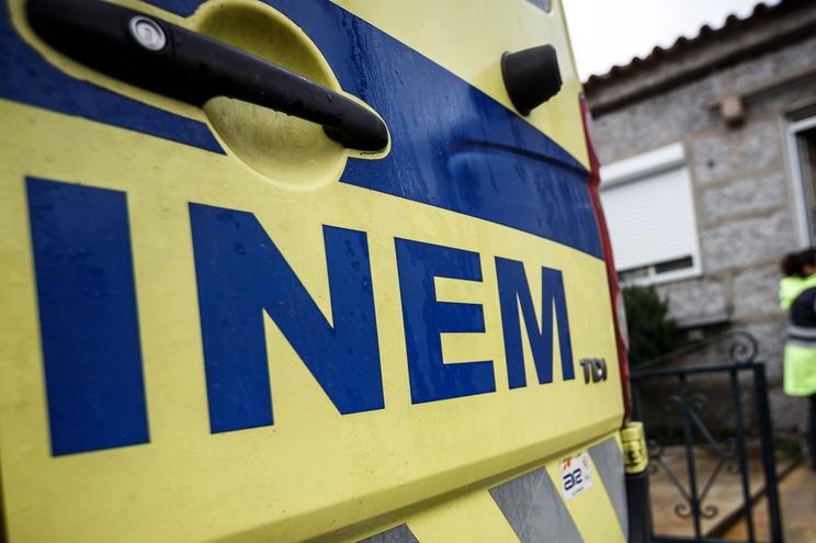 A vítima foi assistida pelo INEM