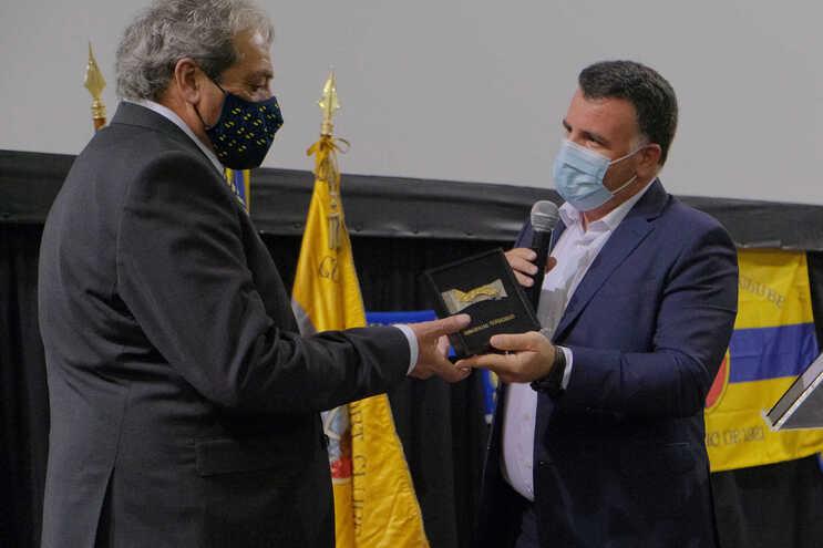 Álvaro Cerqueira, presidente do Gondomar, Marco Martins, líder da câmara municipal