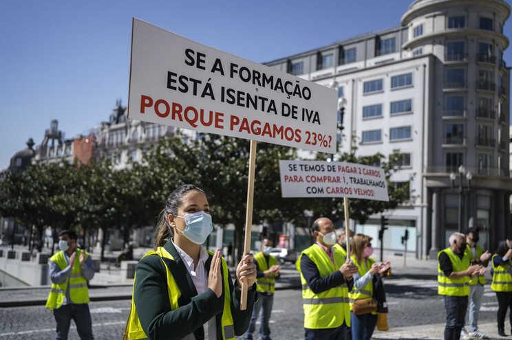 Empresários e profissionais manifestaram-se em março por apoios para o setor