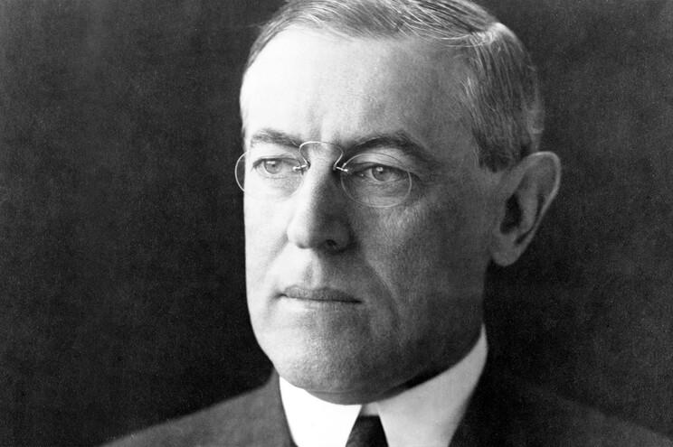 Woodrow Wilson foi presidente dos EUA de 1913 a 1921