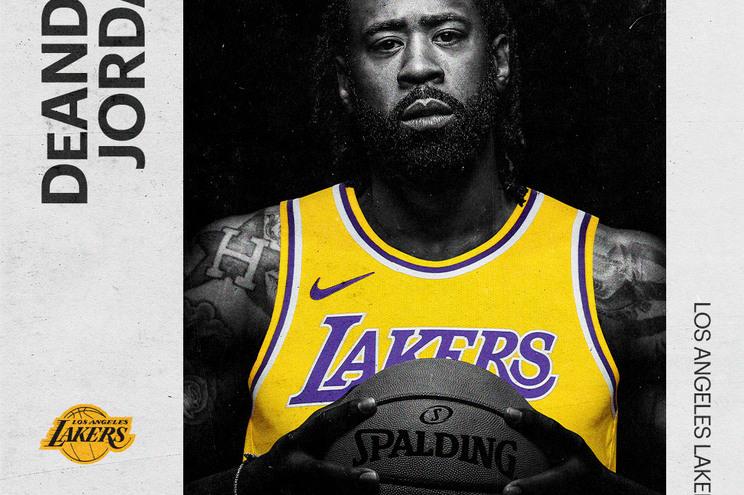 DeAndre Jordan é a mais recente aquisição dos Los Angeles Lakers