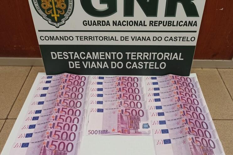 Detido em Viana na posse de 26 notas falsas de 500 euros