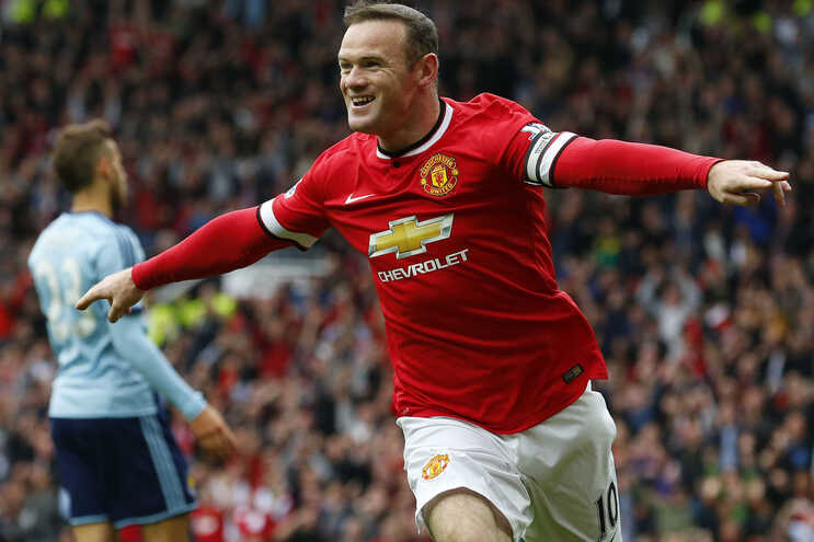 Wayne Rooney quando jogou no Manchester United