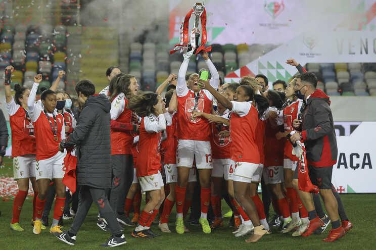 Sporting Clube de Braga é a última equipa vencedora da Taça de Portugal de futebol feminino
