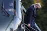 O presidente dos Estados Unidos, Donald Trump, que testou positivo para a covid-19
