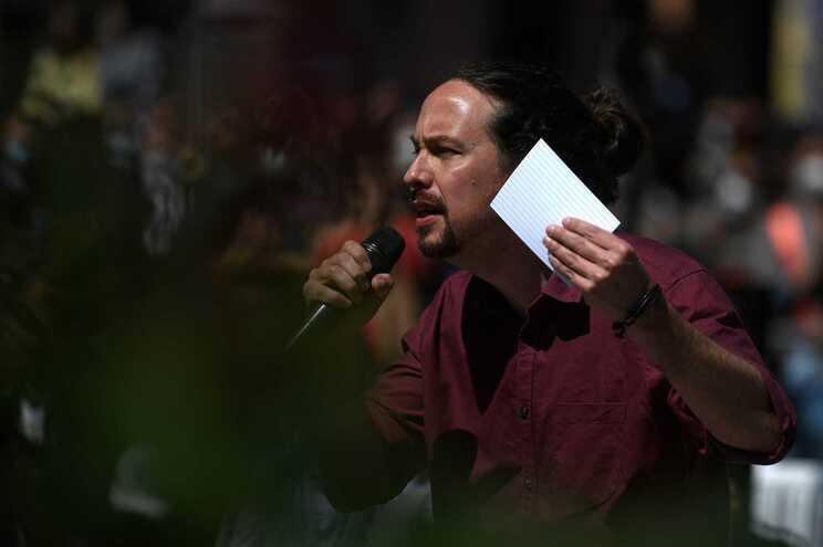Pablo Iglesias, líder do partido de extrema-esquerda Podemos